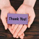 Примеры объявления благодарности
